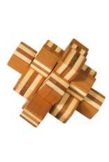 Fridolin IQ Test Bamboo Puzzle - Block