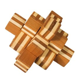 Fridolin IQ Test Bamboo Puzzle - Block