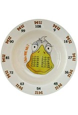 Realtimes Products The Multiples Times Table Dinnerware Duke Nine Bills 7.5 inch Melamine Bowl