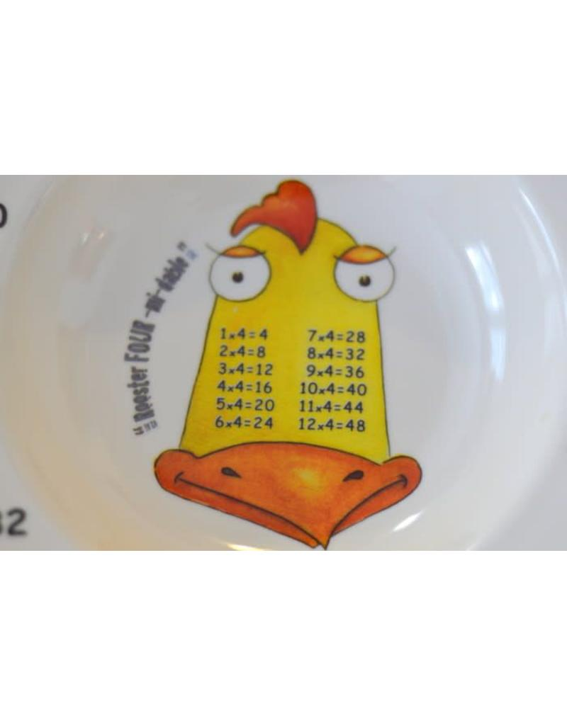 Realtimes Products The Multiples Times Table Dinnerware Rooster Four 7.5 inch Melamine Bowl