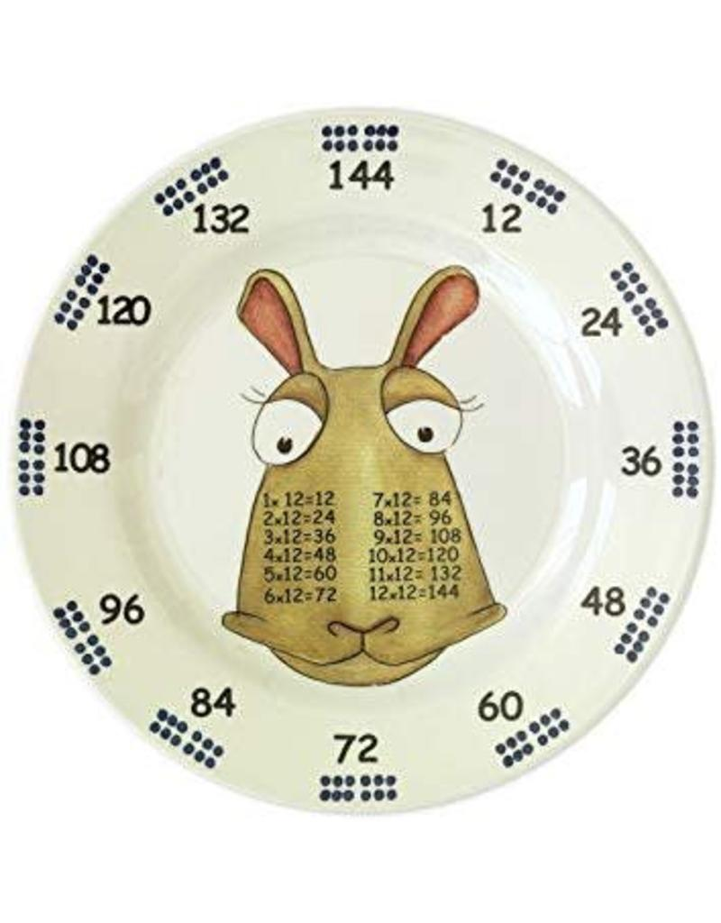 Realtimes Products The Multiples Times Table Dinnerware Lord Twelve Tales  5.5 inch Melamine Plate
