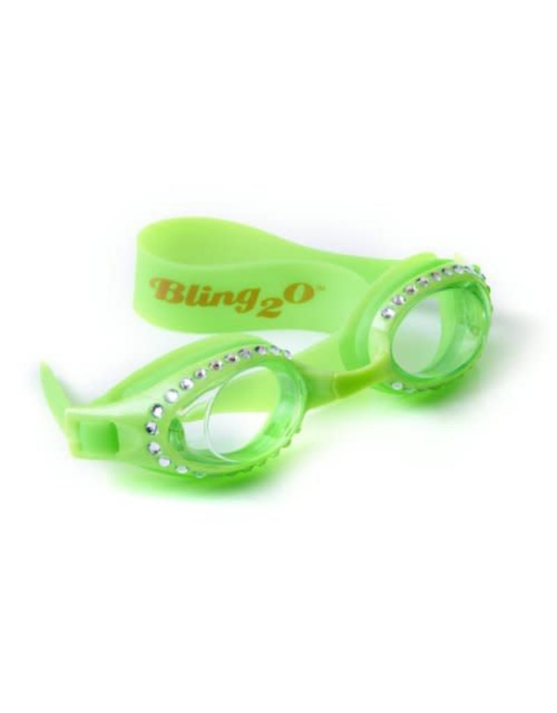 Bling2O Swimming Goggles - Lime Green Rinestones
