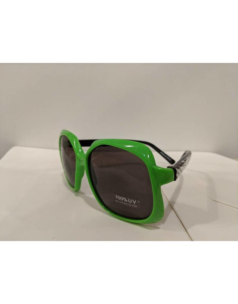 Bling2O Sunglasses - Green Frame & Rhinestone Star
