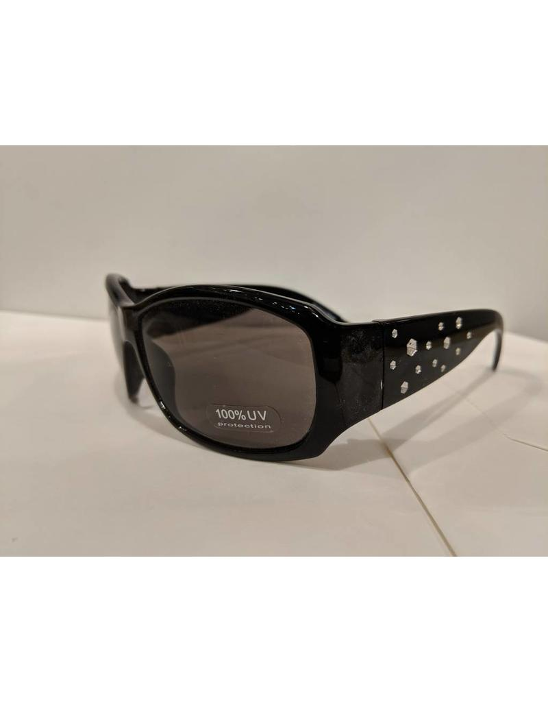 Bling2O Sunglasses - Black & Rhinestone Frame