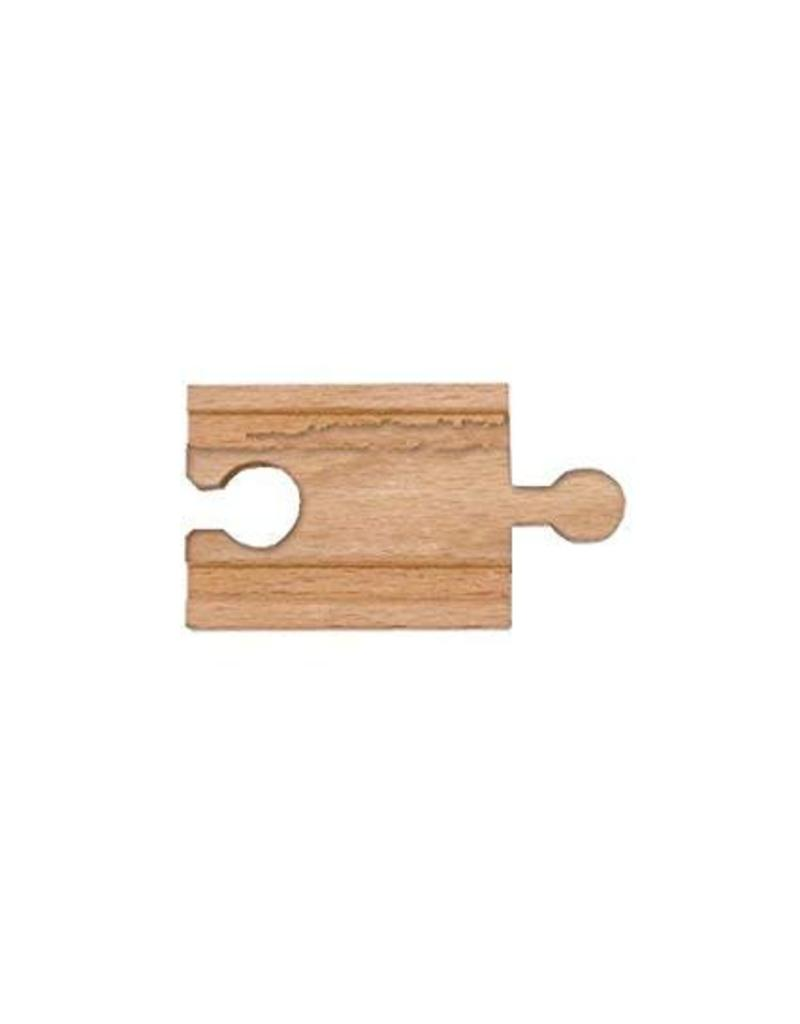 """Melissa & Doug 2"""" Wooden Straight Track (Discontinued)"""