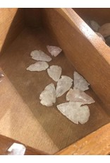 Squire Boone Village Rock/Mineral - Quartz Replica Arrowhead (Hand-Chipped, Assorted Quartz and Rose Quartz)