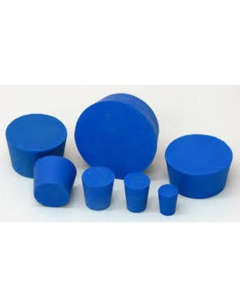 American Educational Products Rubber Stopper Size 10 - Solid Blue