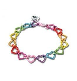 CHARM IT! Charm It! Rainbow Heart Link Charm Bracelet