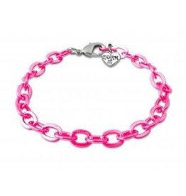 CHARM IT! Charm It! Pink Chain Bracelet