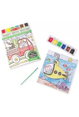 Melissa & Doug Activity Pad Paint With Water - Vehicles