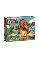 Melissa & Doug Floor Puzzle - Land of Dinosaurs - 48 Piece