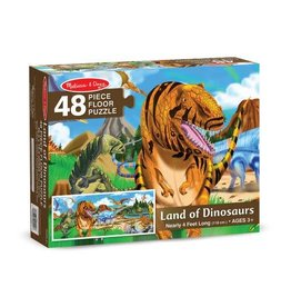 Melissa & Doug Floor Puzzle - Land of Dinosaurs - 48 Piece