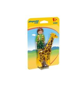 Playmobil 123 Playmobil 123 Zookeeper with Giraffe