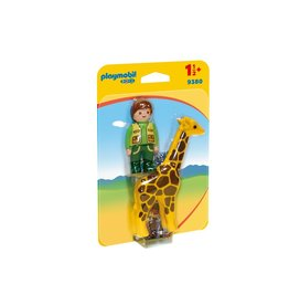 Playmobil Playmobil 123 Zookeeper with Giraffe