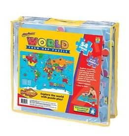 Educational Insights Puzzle World Foam Map