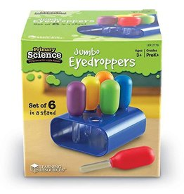 Learning Resources Primary Science Jumbo Eyedroppers with Stand