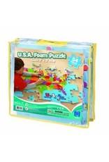 Educational Insights U.S.A. Foam Map Puzzle