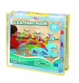 Educational Insights U.S.A. Foam Map Puzzle
