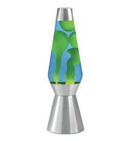 """Lava Lite Lava Lamp - Yellow Lava/Blue Liquid/Silver Base - 27"""""""
