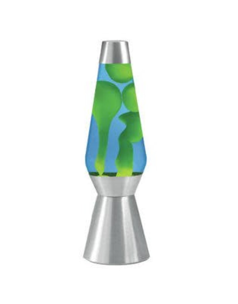 """Lava Lite Lava Lamp - Green Lava/Blue Liquid - 27"""""""