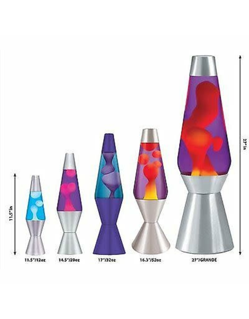 Lava Lite Lava Lamp - Classic - Yellow Lava/Purple Liquid/Silver Base - 14.5""