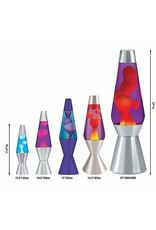"Schylling Toys Lava Lamp -  Classic - Yellow Lava/Blue Liquid/Silver Base - 16.3"""