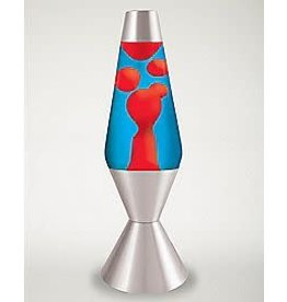 Schylling Toys Lava Lamp - Red Lava / Blue Liquid / Silver Base - 14.5""
