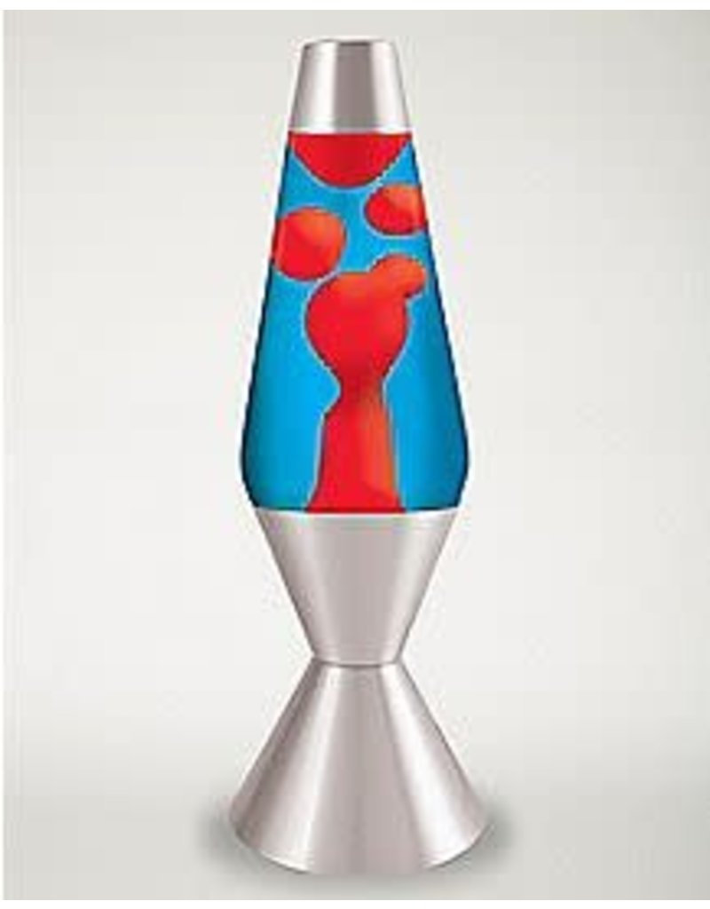 """Schylling Toys Lava Lamp - Red Lava / Blue Liquid / Silver Base - 14.5"""""""