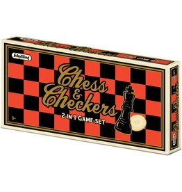 Schylling Toys Chess & Checkers Set