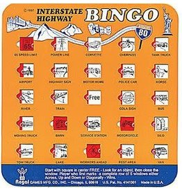 Schylling Toys Travel Bingo - Interstate Highway