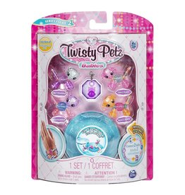 Toysmith Twisty Petz Babies - Smiley & Miley Polar Bear, Tango & Mango Puppy