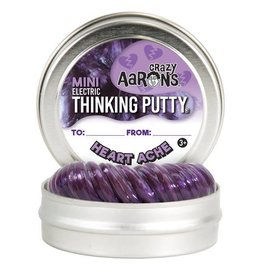"Crazy Aaron Putty Crazy Aaron's Thinking Putty - Electric - Heart Ache 2"" Mini Tin"