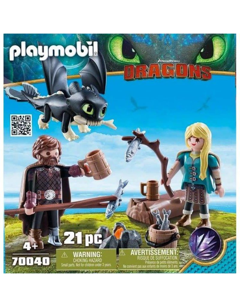 Playmobil Hiccup and Astrid with Baby Dragon