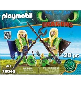 Playmobil Ruffnut and Tuffnut with Flight Suit