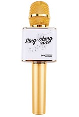 Wireless Express Sing A Long Karaoke Bluetooth Microphone - Gold