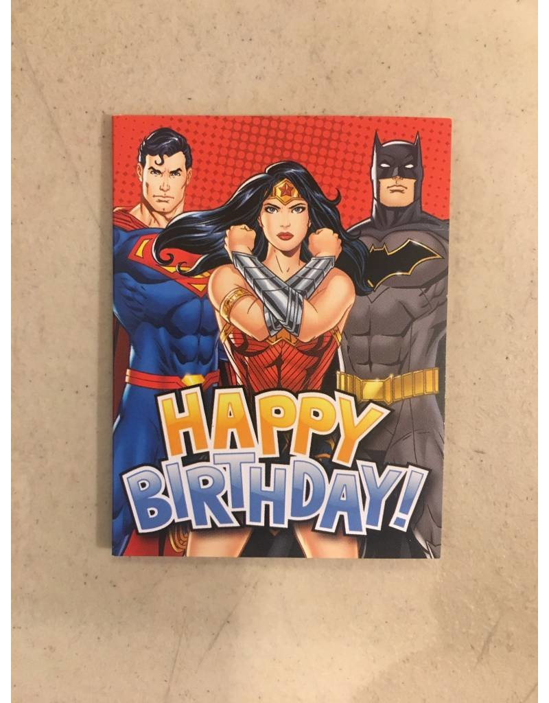 Playhouse DC Comics Big 3 Birthday Card