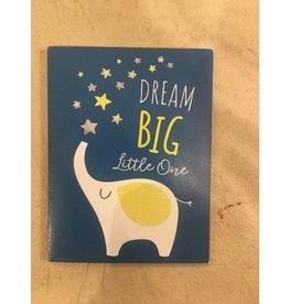 Playhouse Dream Big Elephant Foil Birthday Card