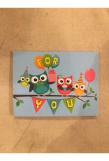 Playhouse Owls- For You Birthday Card