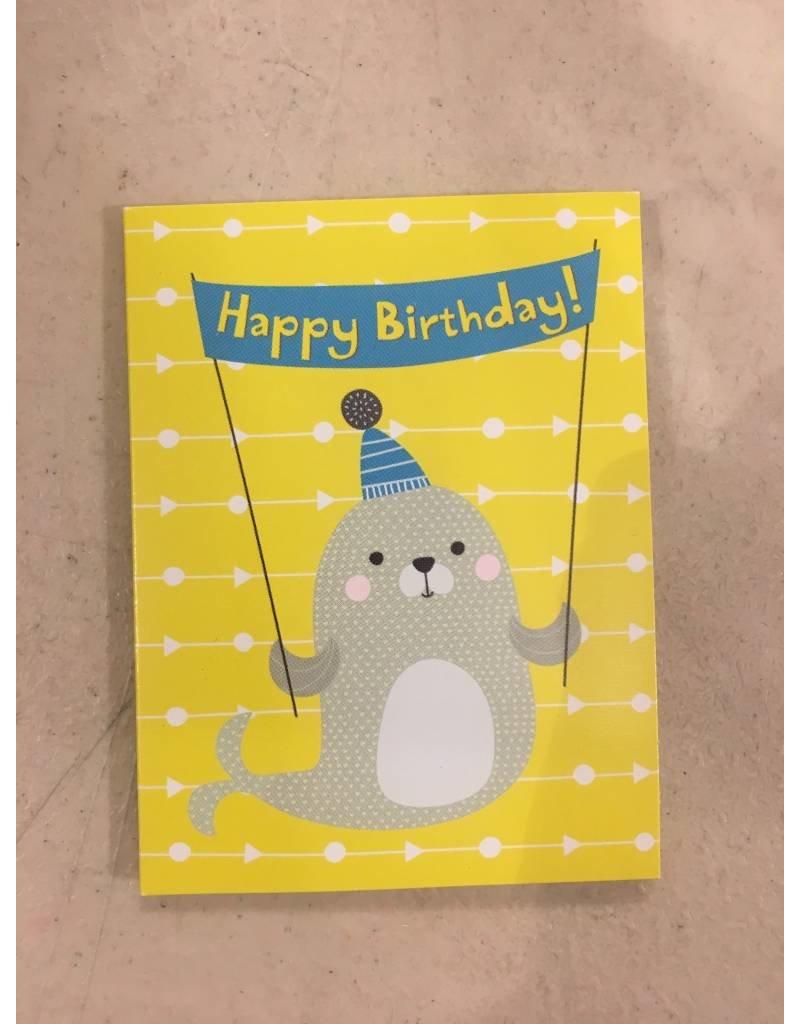 Playhouse Happy Birthday Seal Birthday Card