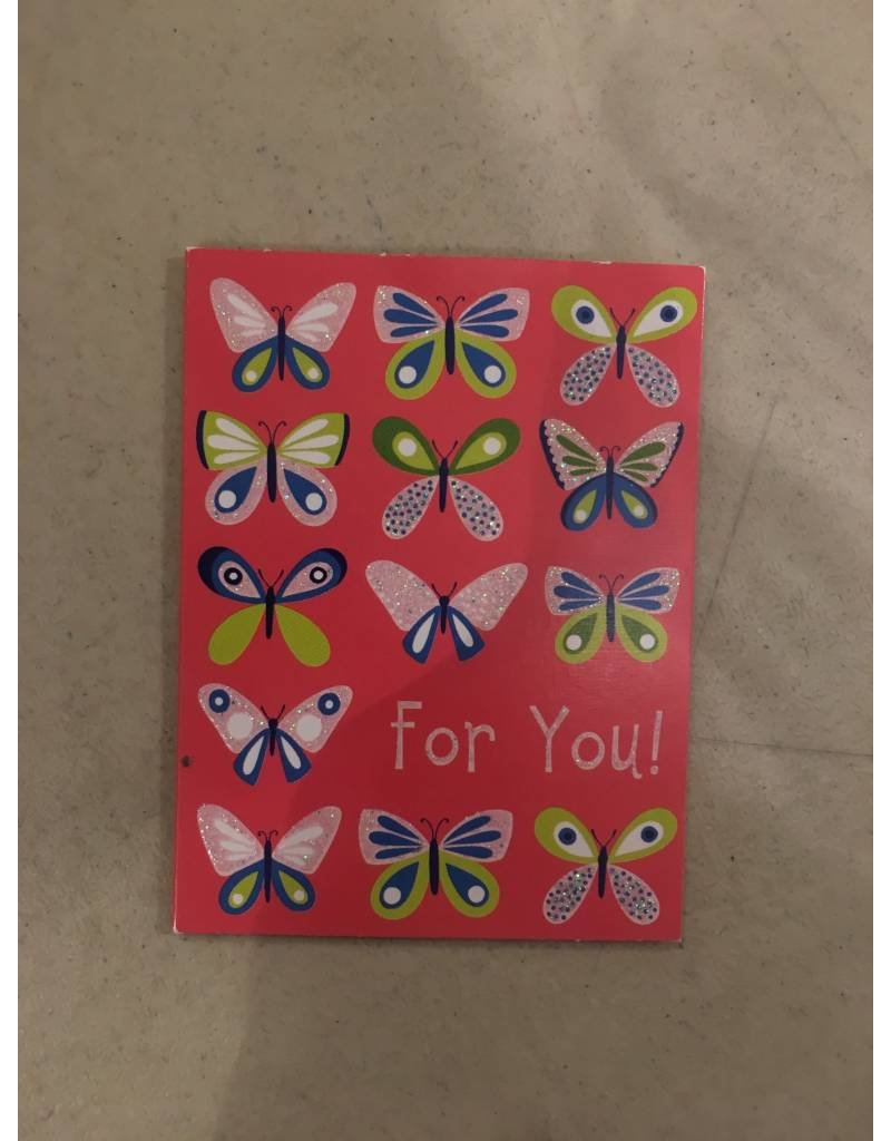 Playhouse Butterfly Glitter Birthday Card