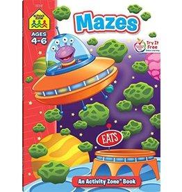 School Zone Workbook - Mazes Activity Book - Ages 4-6