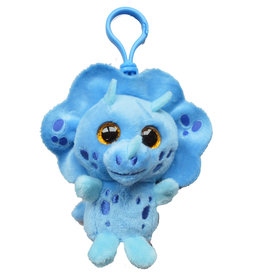 Wild Republic Plush Scented Clip On - Triceratops Blueberry