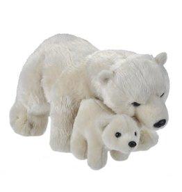 Wild Republic Plush Mom and Baby Polar Bear