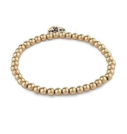 CHARM IT! Jewelry Charm It! 4 mm Gold Bead Bracelet