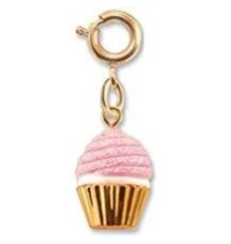 CHARM IT! Jewelry Charm It! Gold Pink Glitter Cupcake