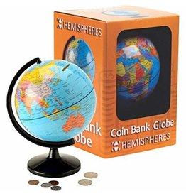 Round world Hemisheres Globe Coin Bank