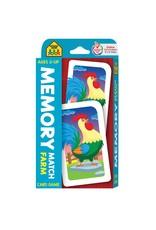 School Zone Flashcards - Memory Match Farm Card Game