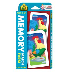 School Zone Flashcards - Memory Match Farm Card Game