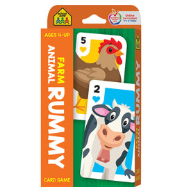 School Zone Farm Animal Rummy Card Game