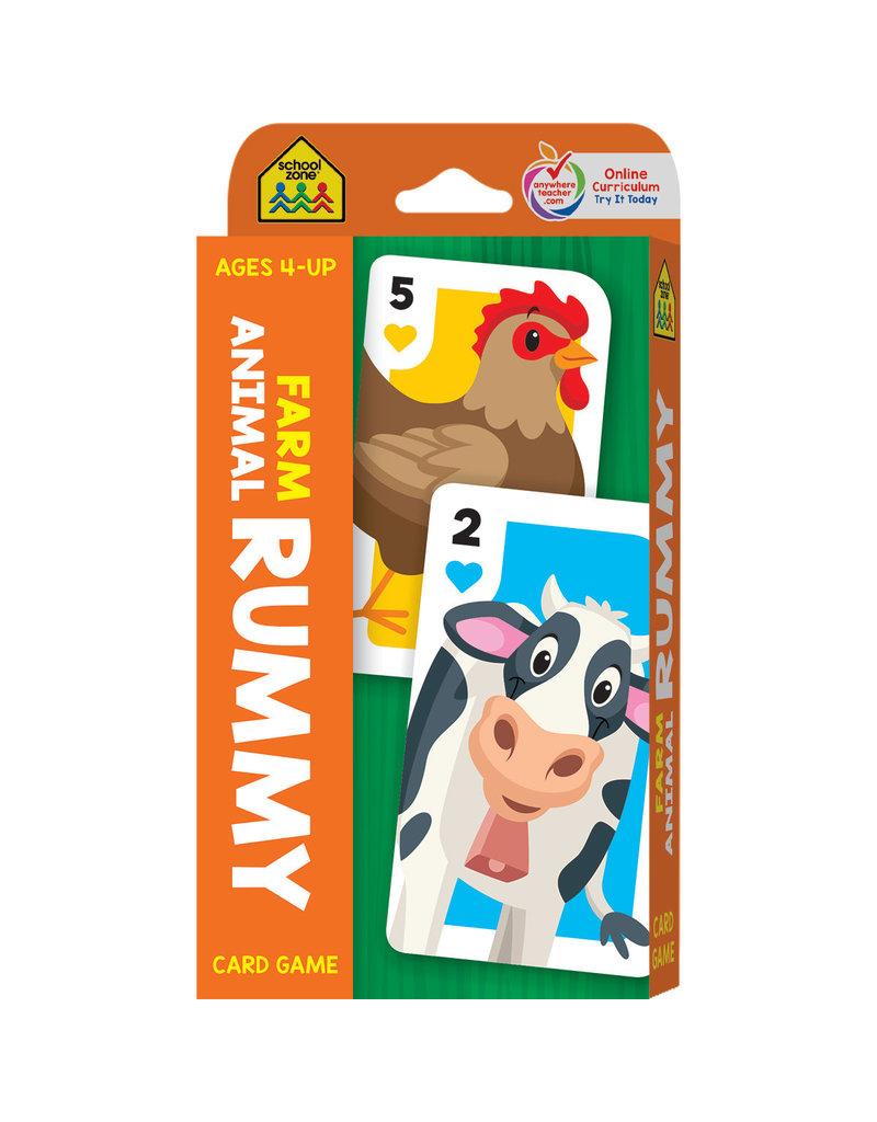 School Zone Farm Animal Rummy Card Game